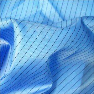 Tissu tissé antistatique de polyester de sergé de rayure de 5mm pour les vêtements antistatiques