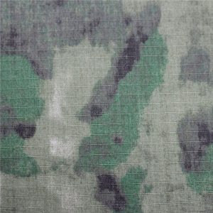 Tissu de coton d'impression antistatique militaire de Ripstop pour le vêtement d'armée