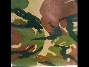 tissu militaire uniforme en nylon imperméable ripstop imprimé en camouflage