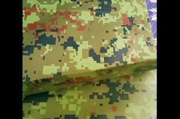 Chine fabricant en gros camouflage en relief tissu géotextile de vêtements de pluie pour le tissu en plein air